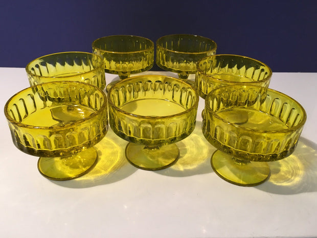 Dessert Glass RARE Chartreuse Depression Glass  Ice Cream SHERBET