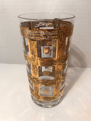 Vintage 1950s -60s 24Kt Gold Plated Vintage Highball's Cocktail  Ice Tea Mid Century Modern Barware Culver or  Imperial Glass Sekai Ich