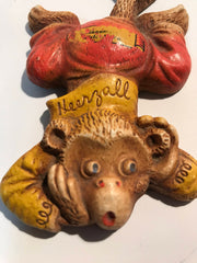 Vintage M.P. 1948 Monkey Collectable Seezall Heerzall Tellzall Wooden Wall Hanging 3pc Set RARE
