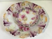 Antique 1800s SIGNED RS Prussia 3pc Set Platter & 2 Smaller Dishes Fine China