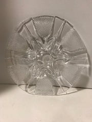 Clear Depression Glass Extra Large Pressed Glass Center Flower Pattern Plate