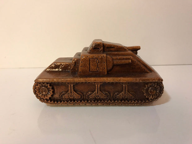 WWII SYROCO WOOD Army Tank Figure 1940s Vintage Rare Vintage