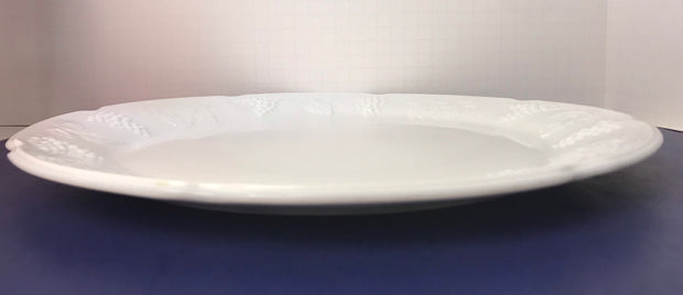 Vintage Indiana Glass Colony Collection Harvest Platter White Milk Glass