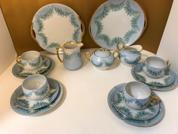 1900s Bavarian Austria 17 piece Tea/Coffee Set