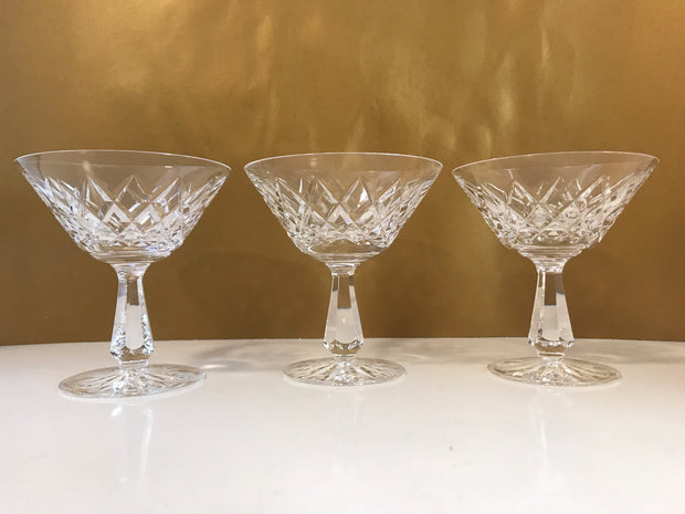 VINTAGE Waterford Kinsale Stemware Champagne Glasses Vintage  Crystal Brilliance Sold Separately AS IS
