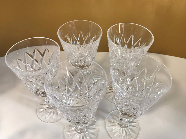 "Waterford ""KINSALE"" Stemware Wine Claret Glasses Vintage  Crystal Brilliance Each being sold Separately"
