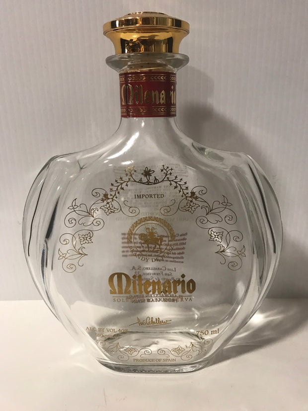 Collectable Vintage Empty Liquor/ Brandy Bottle by Milenario Product of Spain 750ml