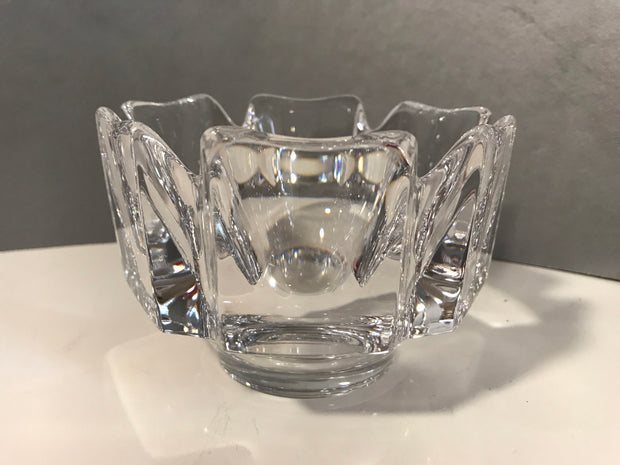 "Vintage Orrefors ""Corona"" Crystal Small Brilliance Made in Sweden Artist Signed 4 1/4 x 3 1/8""Like New"