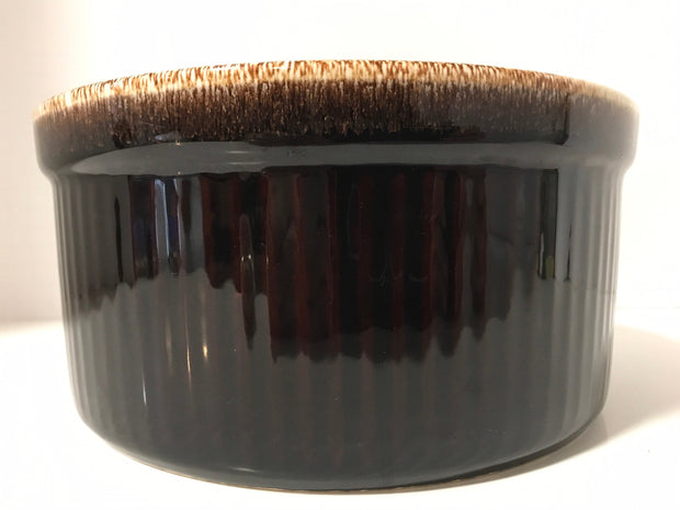 "Pfaltzgraff Large  brown drip soufflé Casserole Baking Dish  Pottery #408 Measures Large 8 1/2""x 4"""