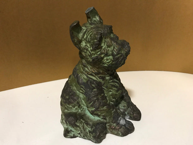 Vintage 1937 McClelland Barclays Scottish Terrier Dog Sculpture