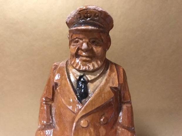 Syroco Wood 1940s Rare Captain of The Sea Ships Captain Yacht Captain Old World Figurine Collectable