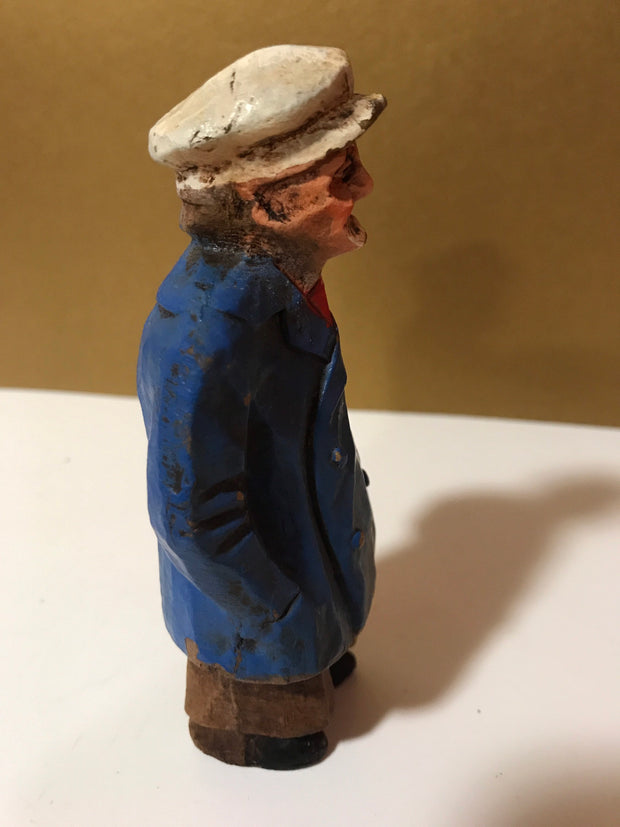 Syroco Wood 1940s Rare Captain of The Sea Ships Captain Funny Looking Captain Old World Figurine Collectable