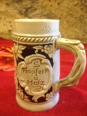 Authentic Vintage W. Germany Small Stein Hopfen U. Malz