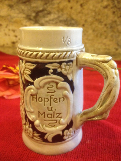 Stein, Authentic W. Germany Hopfen U. Malz Small SALE