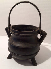 Cast Iron Black Pot/Caldron Vintage SmallDoorstop or Fireside piece