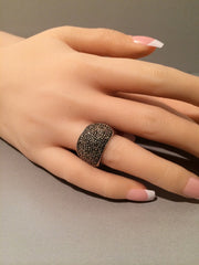 Sterling Silver 925 Marcasite  Ring Vintage On SALE