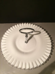 Fenton Vintage Silvercrest Large Plate   with Handle1950s Cookies Cupcakes Cottage Chic