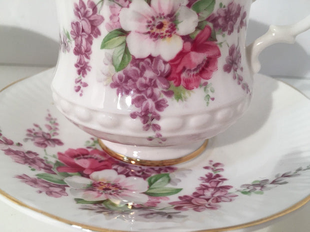 Royal Garden Fine China Tea cup and Saucer Made in England