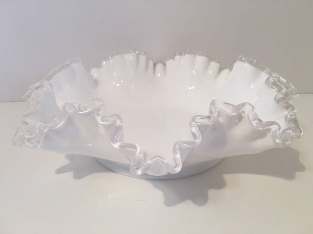 Fenton Silvercrest Ruffled Edge  bowl