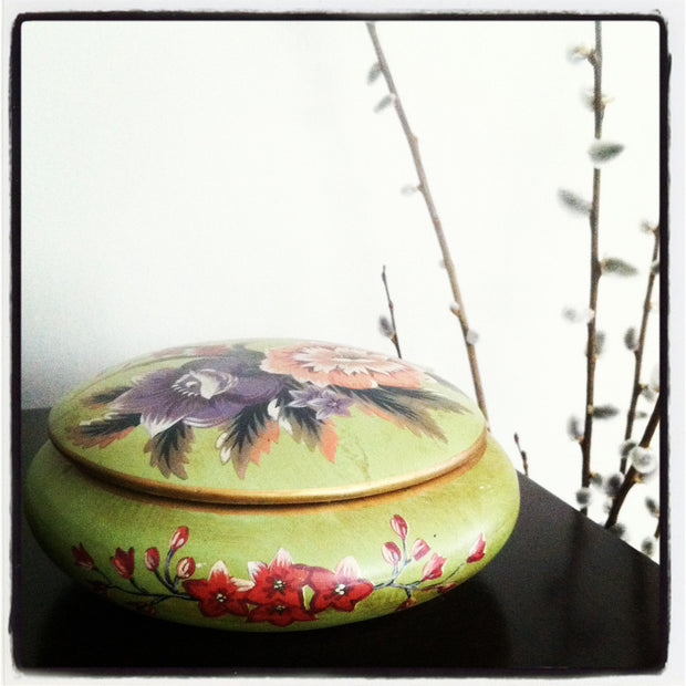 Hand Painted Trinket Box
