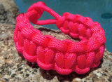 Hot Pink Handmade Paracord Rope Survival Bracelet Cool Outdoor Gift Wife Mom Sister Girl Fishing Camping Hunting Climb