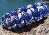 Paracord Survival Bracelet made Blue and White Great Gift for Outdoorsmen or Sports Fan