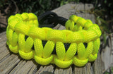 Fluorescent Yellow and Black Handmade Parachute Rope Survival Bracelet - Dad Father's Day Boyfriend Son Boy Scout Pittsburgh Sports Fan