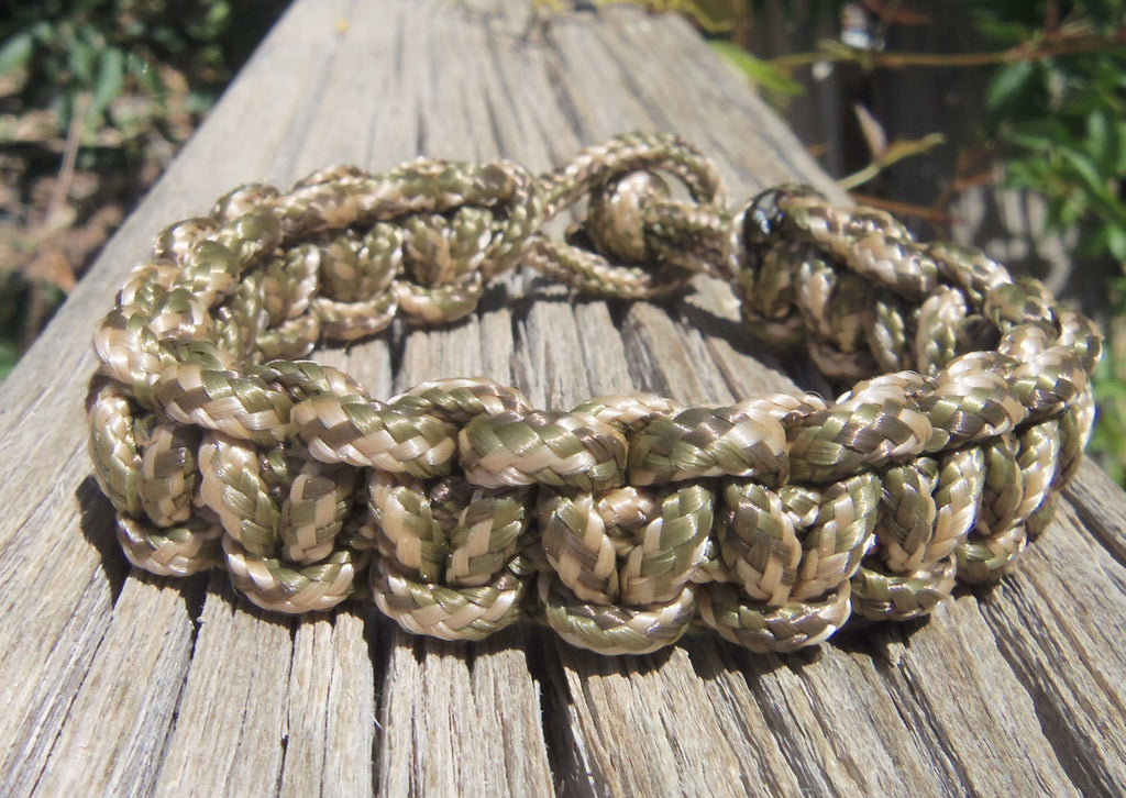 Camouflage Hand made Custom 325 Paracord Survivalist Bracelet Camo Gift for Hunter Outdoorsman Fisherman Climber Hiker