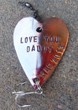 Personalized Gift Fathers Day New Dad Daddy Unique Christmas Gift Ideas for Men Fishing Lure Engraved For Him Military Husband Overseas Papa
