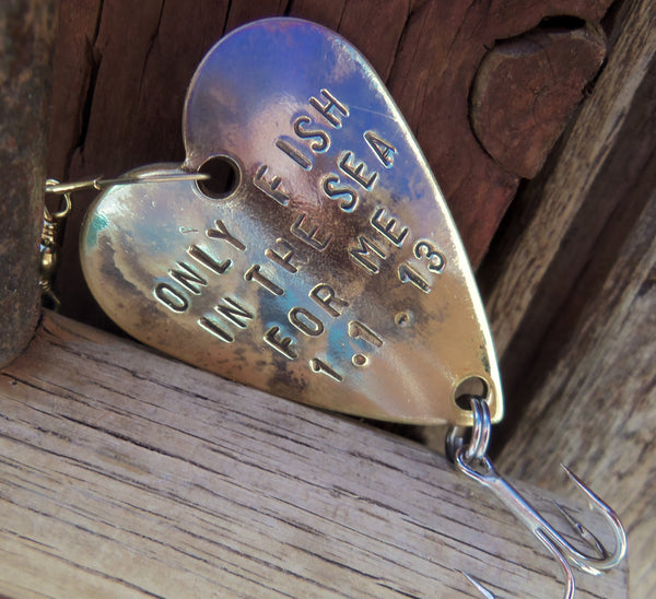 Anniversary gift for men gift for husband fishing custom for Personalized fishing lure