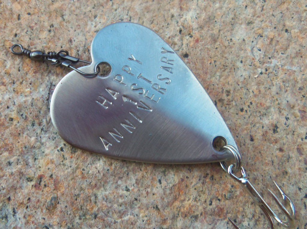 1st Anniversary for Men First Anniversary Gifts for Husband Wedding Anniversary for Boyfriend Fishing Gift Couple Personalized Fishing Lure
