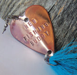 New Dad Gift New Fishing Buddy Daddy's Boy Daddy's Girl Unique Baby Gift Grandpa Birth Announcement Baby Son Daughter Personalized Engraved