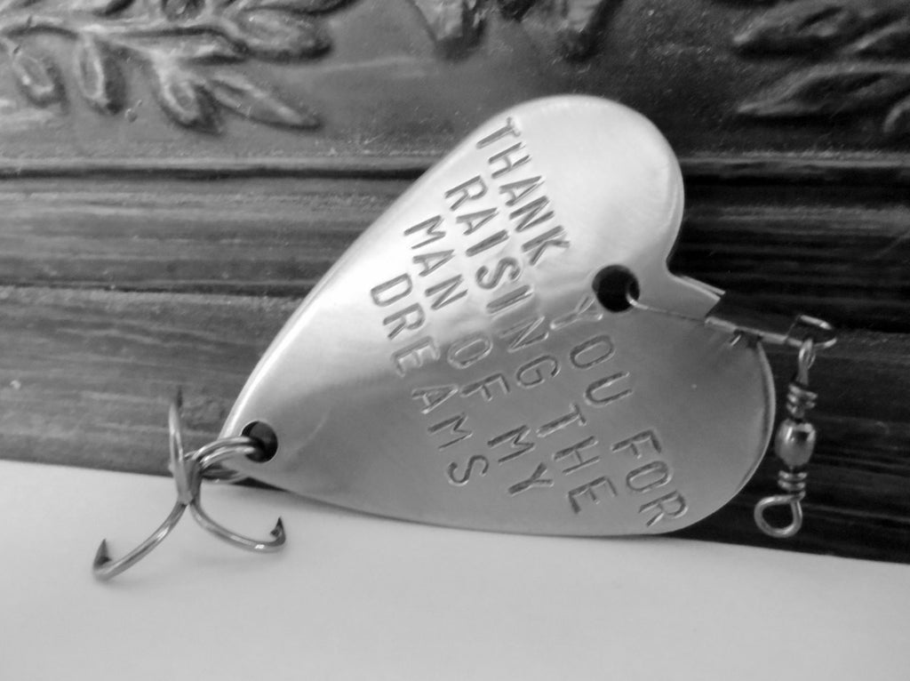 Father In Law Fishing Lure Father of the Groom Bride Thank you for Raising the Man of my Dreams Parent Wedding gift Fishing Wedding Dad Mens