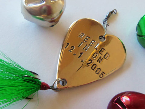 Christmas Gifts for Men Stocking Stuffer Personalized Ornament for Family Fishing Lure Boyfriend Present Husband 1st Anniversary Wife Couple