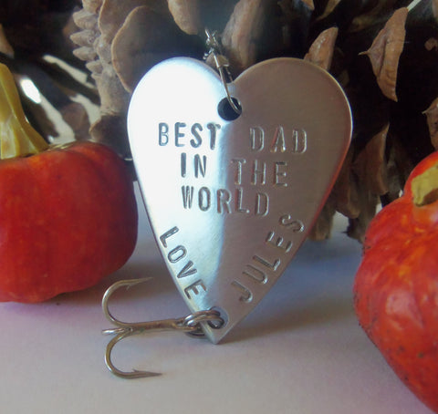 Best Dad in the World Personalized Fathers Day Fishing Lure Military Army Navy New Dad Fishing Mens Gift Husband Grandpa Kids Daughter Son