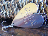 Valentine Gift for Dad Fishing I Love my Fisherman Gift Anniversary Man Personalized Lures Fish Steel Copper Bronze Wedding Husband Birthday