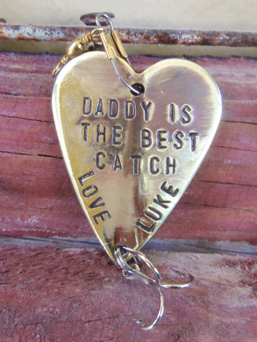 Daddy Is The Best Catch Ever Personalized For Dads Birthday Gift Husband First Christmas Fishing Lure