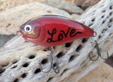Fathers Day Gift Special Unique LOVE Handpainted Fishing Lure Keychain for Dad Mom Girlfriend Daddy Husband Wife Custom Key Ring Keychain