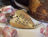 Father of the Bride and Wedding Date - Personalized Heart Lure