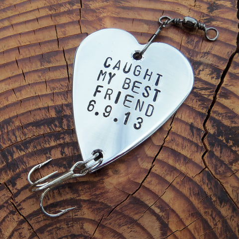 Caught my Best Friend Gifts for Friends Gift for Boyfriend Fishing Gift Men Birthday for Husband Male Friend Long Distance Friendship Sports
