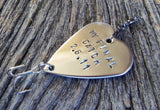 Boyfriend Gift for Men Custom Fishing Lure Handstamped Anniversary Husband Birthday For Him Wedding Day for Groom and Bride My Final Catch