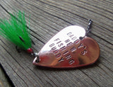 Personalized Fishing Lure Gift for Dad Mom New Parents New Fishing Buddy Daddy's Boy Mommy's Girl Pregnancy Announcement Fishing Baby Shower