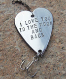 I Love you to the Moon and Back Personalized Gift for Man Fishing Lure Custom Mens Gift Best Gifts for Birthday Husband Couples Friendship