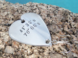 Latitude and Longitude Coordinates Gift for Wedding Day Husband Fishing Lure GPS Coordinates Navigational Sign Directional Location We Met