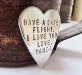 Gift for Pilot Wife Aviator Flight School Husband Gift Naval Graduation Be Brave First Plane Ride Solo Flight Attendant Daddy's Wingman Dad