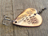 You Have my Whole Heart Fishing Lure Birthday Ideas for Him Personalized Party Favors 60th 30th 10th Anniversary for Husband Groom Man Gifts