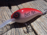 Sport Fan Keychain Outdoorsman Gift for Dad Fishing Lure or Key Ring Red White Black Wedding Gift for Bestman Usher Boy Father of the Bride