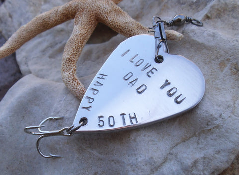 50th Birthday Gift for Dad 40th Birthday Party Favor Fishing Lure Personalized 65th 23rd 90th Husband Brother Teacher Boss Co-worker Friend