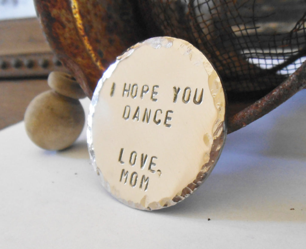 I Hope You Dance Mother to Son Mom Daughter Inspirational Going Away to College 18th Birthday 21st 13th Barmitzvah Military Child Jewelry