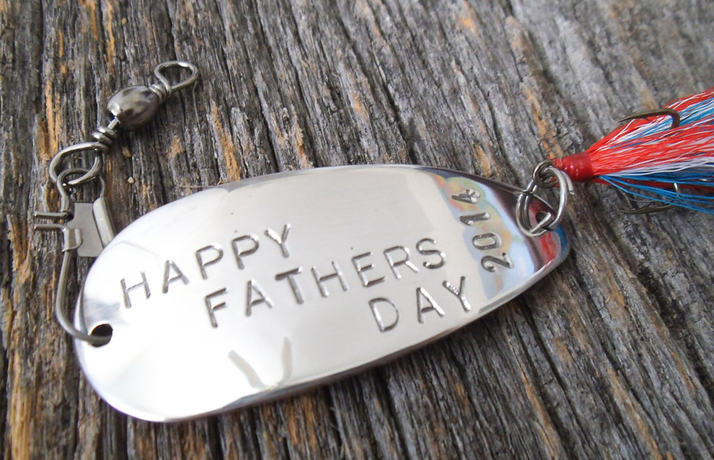 Husband Father's Day Gift Happy Fathers Day Dad Special Patriotic Red White and Blue Spoon Lure Memorial Day Family Reunion Men Gift for Him